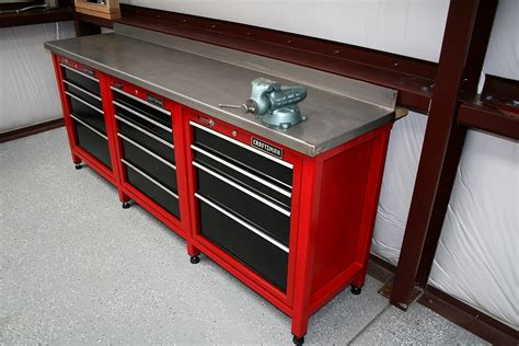 garage tool bench craftsman vise bench mounting the workbench work bench