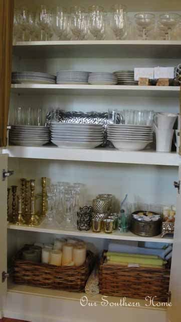 Organizing China Cabinets   Live Creatively Inspired