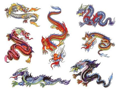 colors of dragons in colors from itattooz