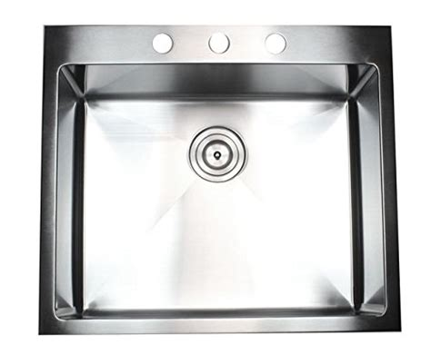 25 Inch Kitchen Sink by 25 Inch Top Mount Drop In Stainless Steel Single Bowl