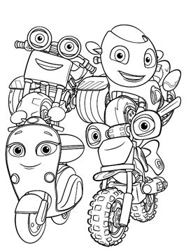 kids  funcom  coloring pages  ricky zoom