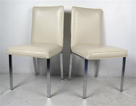 set of four chrome and vinyl dining chairs image 3