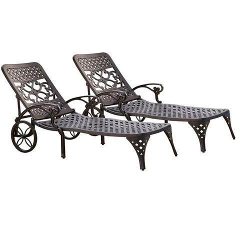 chaise volutive b b hton bay niles park sling patio chaise lounge