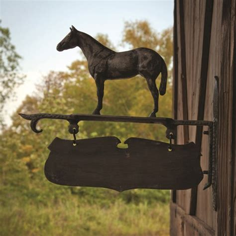 park hill vintage stable sign iron accents