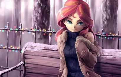 Shimmer Sunset Pony Pink Hair Snow Eyes