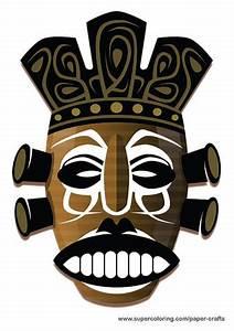 Free Printable Animal Masks Templates Aboriginal Mask Paper Template Free Printable Papercraft