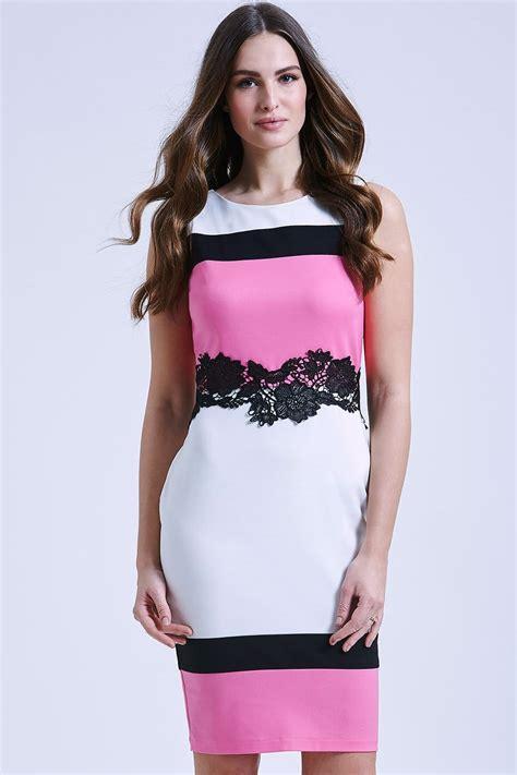 Paper Dolls Black White u0026 Pink Hoop Dress