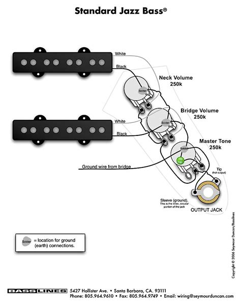 wiring diagram jazz bass wiring diagram bass guitar