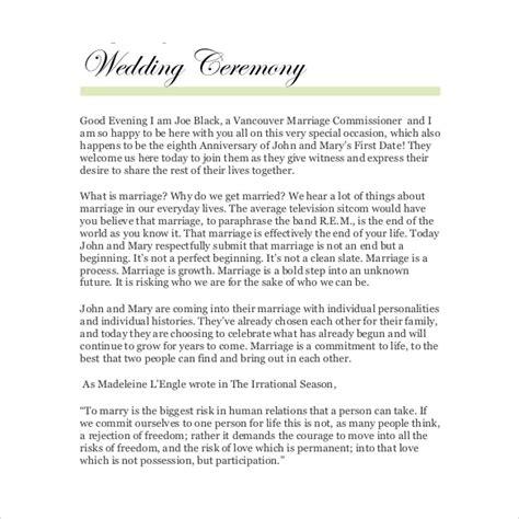 wedding officiant script wedding ceremony script exle mini bridal