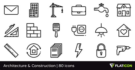 home design free app architecture construction 80 free icons svg eps psd