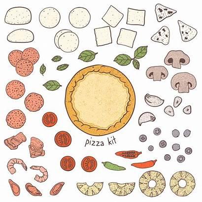 Pizza Crust Toppings Vector Clipart Vecteezy Premium
