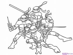 How To Draw Ninja Turtles Step By Step Characters Pop