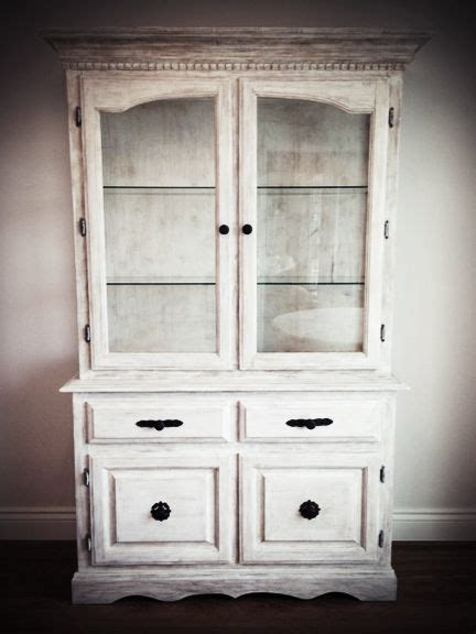 china cabinet refinished  annie sloan pure white