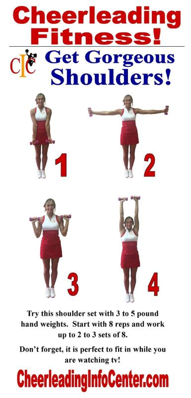 cheerleading fitness exercises  gorgeous shoulders