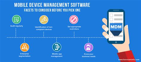 mobile device management software facets