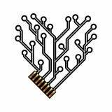 heart from circuit royalty free stock images image 22675309 With circuit board red