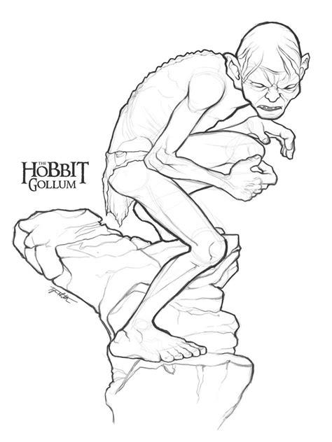 Drakenpoot Kleurplaat by Gollum Sketch By Ancoradesign On Deviantart