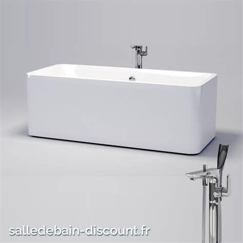 clou baignoire acrylique 1720x74cm a poser en ilot avec mitigeur et