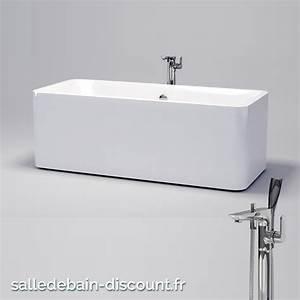 Baignoire A Poser : clou baignoire acrylique 1720x74cm a poser en ilot avec ~ Edinachiropracticcenter.com Idées de Décoration