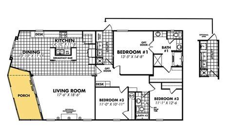 3 Bedroom Wide Floor Plans by Mobile Home Blueprints 3 Bedrooms Single Wide 71 Bedroom