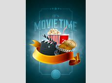 Beautifully movie time illustrator vector material – Over
