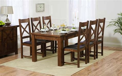 Collection Of Dark Solid Wood Dining Tables