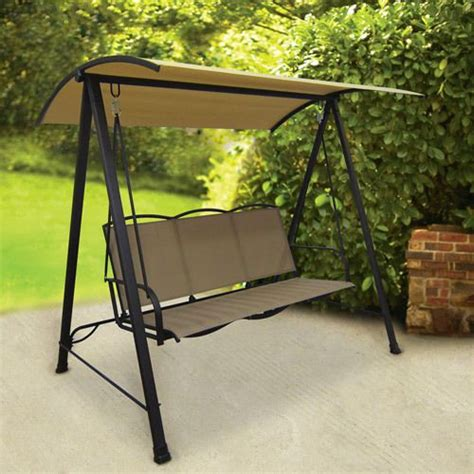 canap swing outdoor patio sling swing canopy 3 person garden deck