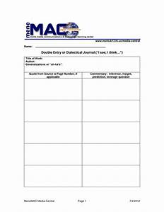 Dialectical journal template aplg planetariumsorg for Diary template google docs