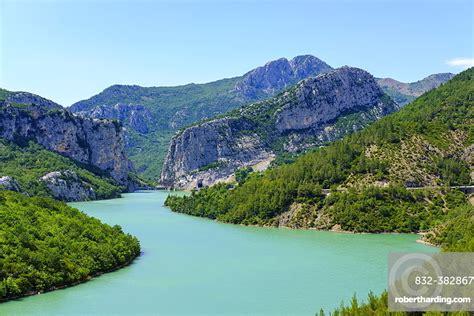 Shkopet Reservoir, Liqeni i Shkopetit,   Stock Photo