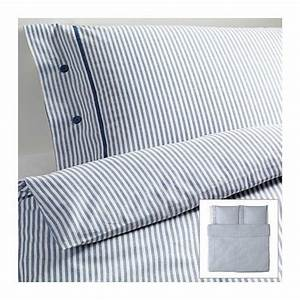übergrößen Bettwäsche 220x240 : blaue streifen bettw sche aus baumwolle in 220x240 von ikea bettw sche ~ Eleganceandgraceweddings.com Haus und Dekorationen