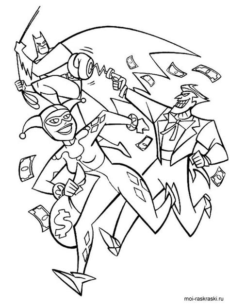 harley quinn coloring pages  printable harley quinn coloring pages