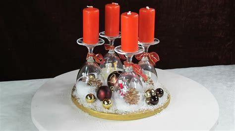 Adventskranz Ideen  Weihnachtsdeko Mit Weingläsern