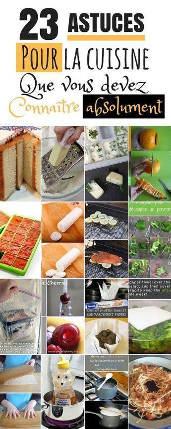 23 Astuces Cuisine à Connaître Impérativement  Projets à