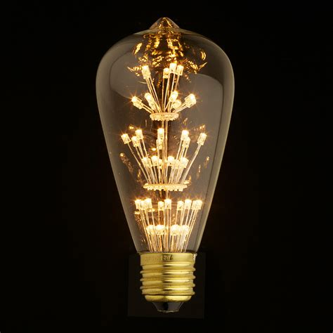 e27 led edison fireworks light bulb 110v 220v by
