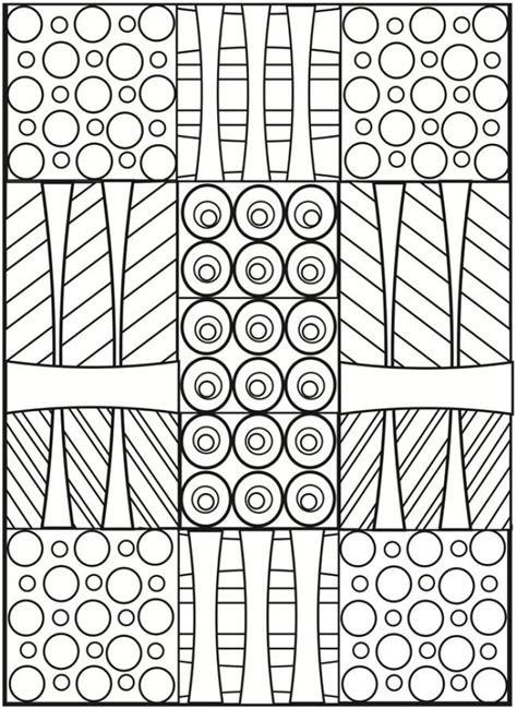 printable art deco patterns coloring pages  grown ups dcty