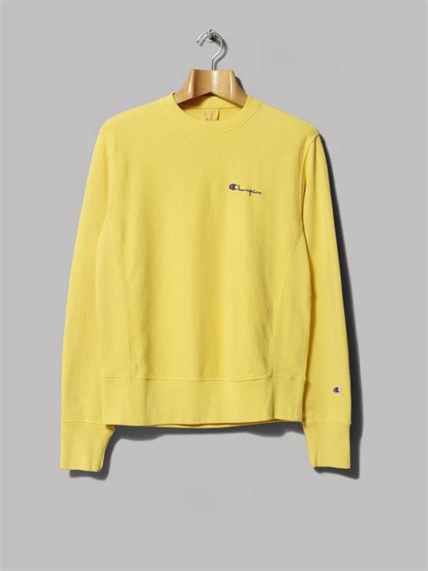 Yellow Champion Hoodie - Trendy Clothes