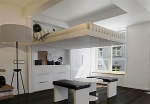 Lit Au Plafond Electrique : lit suspendu au plafond lit escamotable au plafond d ~ Premium-room.com Idées de Décoration