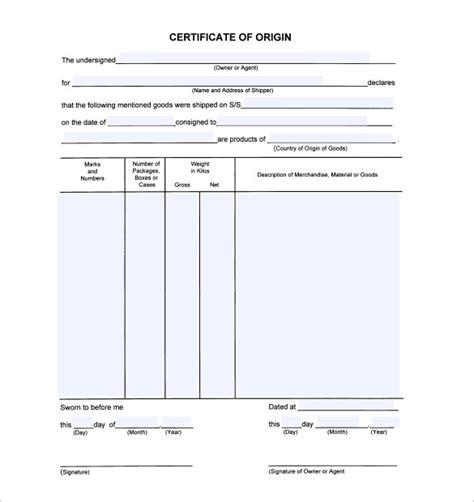 certificate of origin template usa certificate of origin template cyberuse