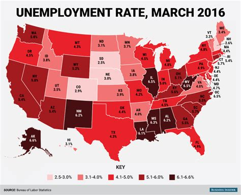 statistics bureau usa here 39 s every us state 39 s unemployment rate in march