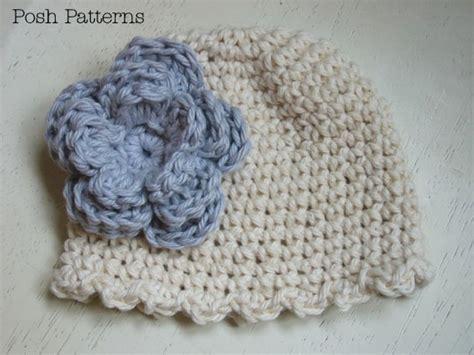 crochet pattern ruffle edge hat flower sizes baby  adult