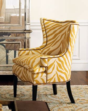 quot sunflower zebra quot chair traditional armchairs and