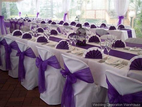 Purple Wedding Table Decorations