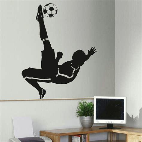 Wall Mural Decals Uk by Large Football Footballer Wall Mural Transfer Sticker