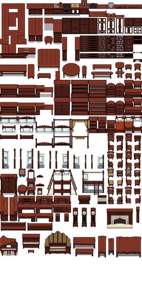 lpc wooden furniture opengameartorg