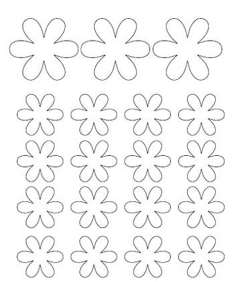 small paper flower templates flower template preschool ideas and flower crafts on