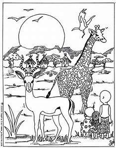 Download African Animals Coloring Pages 26514