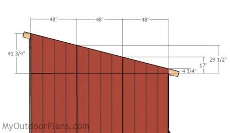 12x24 loafing shed roof plans myoutdoorplans free