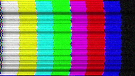 Tv Interference Vintage Color Bars Smpte