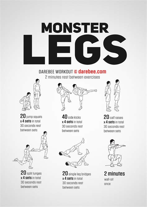 monster legs workout leg workouts exercise