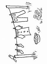 Coloring Pages Clothes Line Tendida Ropa Airedale Clothesline Terrier Copic Template Draw Embroidery Clothespin Digital Stamps Digi Drawing Stitches Printable sketch template